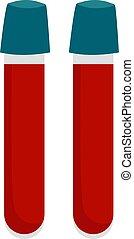 Blood flasks, illustration, vector on white background.