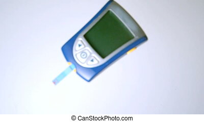 Blood glucose monitor falling on wh