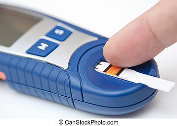 Blood Glucose Monitor On a white background