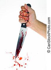 blood., gyilkosság, weapon., crime., kés
