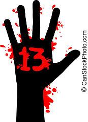 Blood hand - Creative design of blood hand