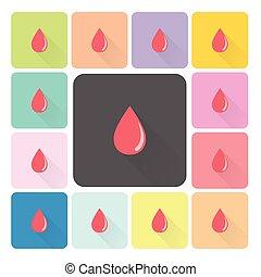 Blood Icon color set vector illustration