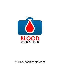 Blood icon logo design vector template