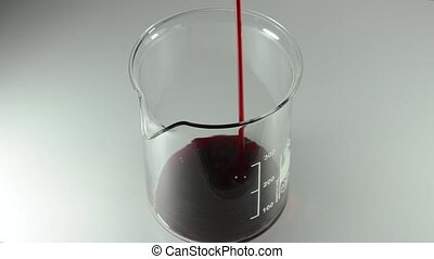 Blood in a glass