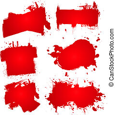 blood ink splat - Abstract blood splats that could be used...