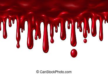 Blood Liquid Dripping