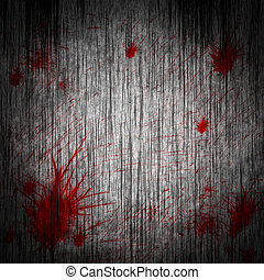 blood on a wooden wall