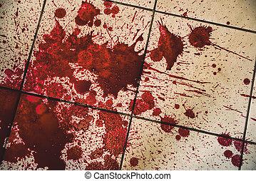 blood on floor