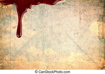 Blood on vintage paper
