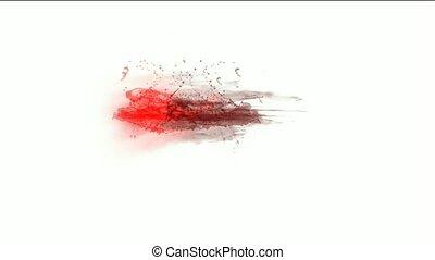 blood & plasma, splash red fluid, liquid & ink.