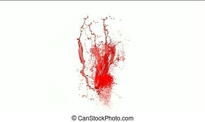 blood & plasma, splash red paint