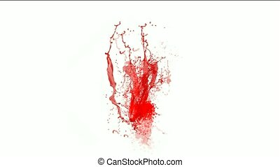 blood & plasma,splash red paint