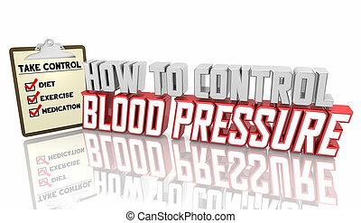 Blood Pressure Checklist How to Control Hypertension Health Care Advice 3d Illustration
