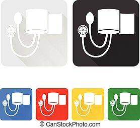 Vector illustration of medicine blood pressure cuff