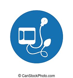 Blood pressure gauge isolated icon