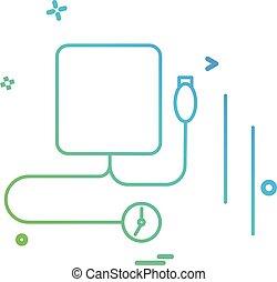 Blood pressure icon design vector