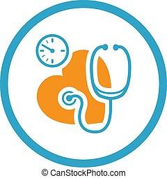 Blood Pressure Icon. Flat Design.