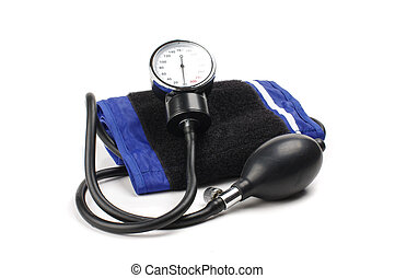 Blood pressure kit isolated on the