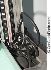 Blood pressure machine in a surgery