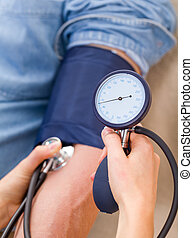 Blood pressure measurement - Close up photo of blood ...