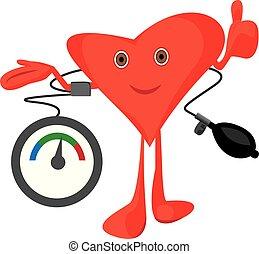 Blood pressure measuring vector illustration