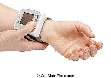 Blood pressure meter - Blood pressure measurement with...