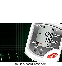 Blood pressure monitor - A digital blood pressure monitor...