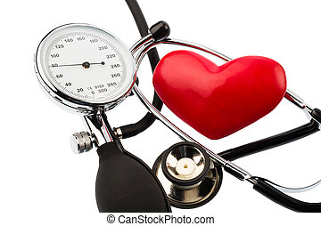 blood pressure monitor and heart