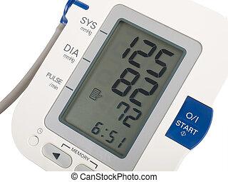 digital blood pressure equipment isolated on white, studio shot