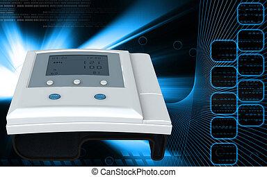 Blood pressure monitor - Digital illustration of blood...