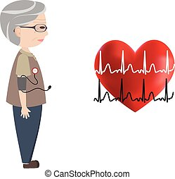 Blood pressure monitoring, heart, a