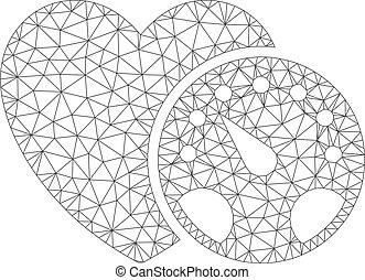 Blood Pressure Polygonal Frame Vector Mesh Illustration