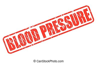 BLOOD PRESSURE red stamp text on white