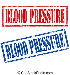 Blood Pressure-stamps - Set of grunge rubber stamps with...