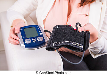 Blood pressure test at the doctor's office