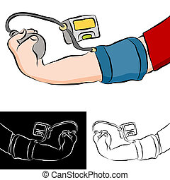 Blood Pressure Test - An image of a man getting a blood...