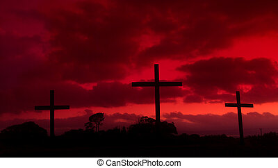 Blood Red Crosses