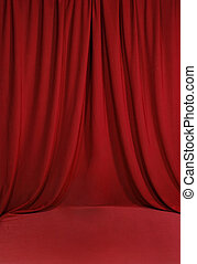 Blood Red Draped Backdrop Background