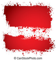blood red ink banner - Red ink blood banner with room to add...