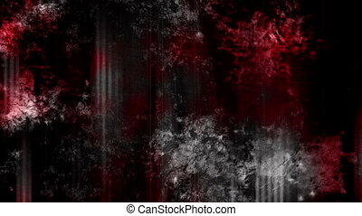 Blood red on the black grunge looping abstract horror...