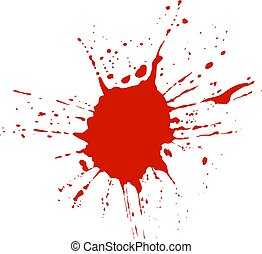 Blood, Red Paint VECTOR Splatter Isolated On White Background.