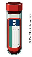 Blood sample in test tube