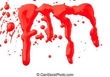 blood set of a red droops