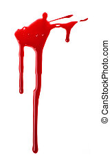 Blood spatter isolated on white