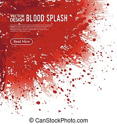 Blood Splash Background Webpage Design Poster - Big...