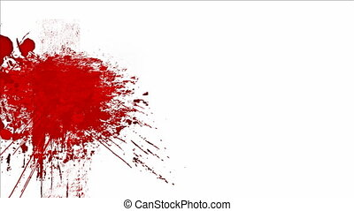 Blood splashes