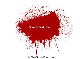 Blood splat - A red splat blood for your text