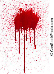 Blood splat and drips - A high resolution image of blood...