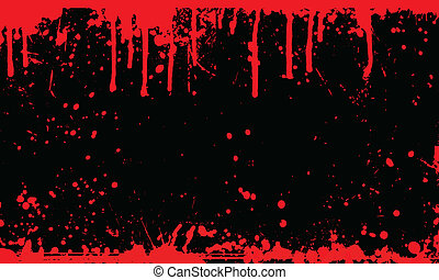 Blood splat background - Background of splats and drips