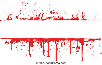 Blood splat border - Abstract background of splats and drips